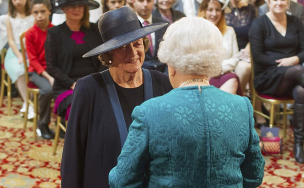 Dame Maggie Smith and Queen Elizabeth